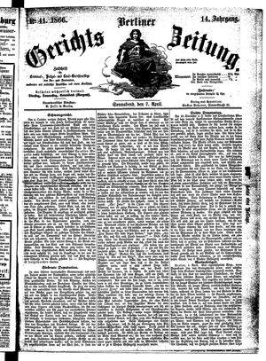 Berliner Gerichts-Zeitung vom 07.04.1866