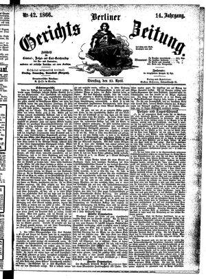 Berliner Gerichts-Zeitung vom 10.04.1866
