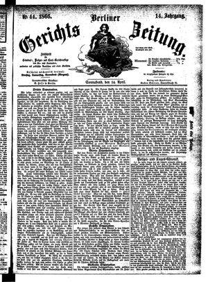 Berliner Gerichts-Zeitung vom 14.04.1866