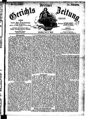 Berliner Gerichts-Zeitung on Apr 17, 1866