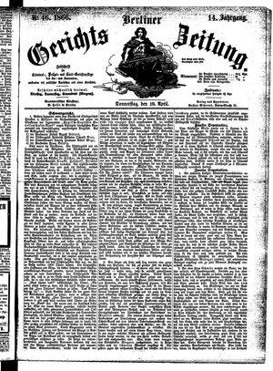 Berliner Gerichts-Zeitung vom 19.04.1866