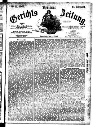 Berliner Gerichts-Zeitung vom 21.04.1866