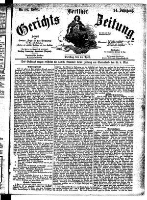 Berliner Gerichts-Zeitung vom 24.04.1866