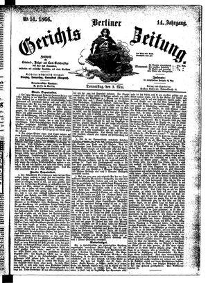 Berliner Gerichts-Zeitung vom 03.05.1866
