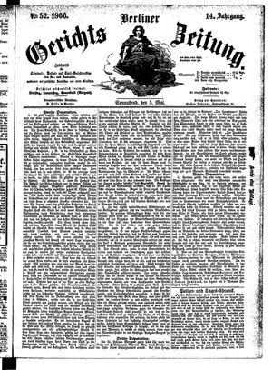 Berliner Gerichts-Zeitung vom 05.05.1866