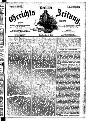 Berliner Gerichts-Zeitung vom 08.05.1866