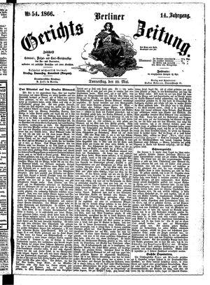 Berliner Gerichts-Zeitung vom 10.05.1866