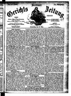 Berliner Gerichts-Zeitung vom 17.05.1866