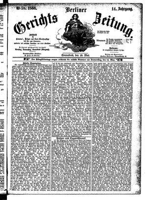 Berliner Gerichts-Zeitung vom 19.05.1866