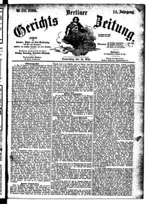 Berliner Gerichts-Zeitung on May 24, 1866