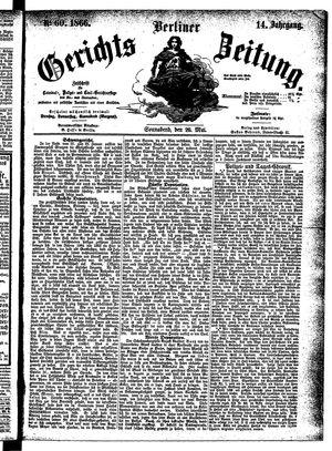 Berliner Gerichts-Zeitung vom 26.05.1866