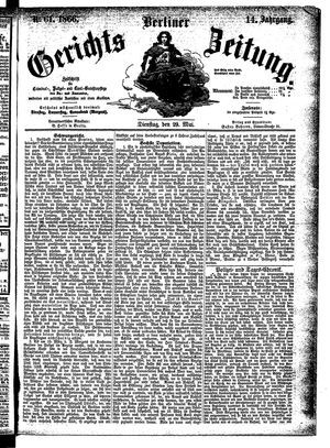 Berliner Gerichts-Zeitung vom 29.05.1866