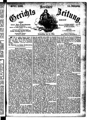 Berliner Gerichts-Zeitung vom 31.05.1866