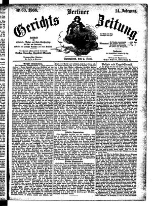 Berliner Gerichts-Zeitung on Jun 2, 1866
