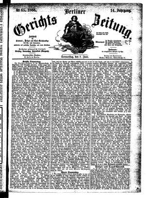 Berliner Gerichts-Zeitung vom 07.06.1866