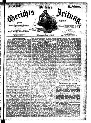 Berliner Gerichts-Zeitung vom 09.06.1866