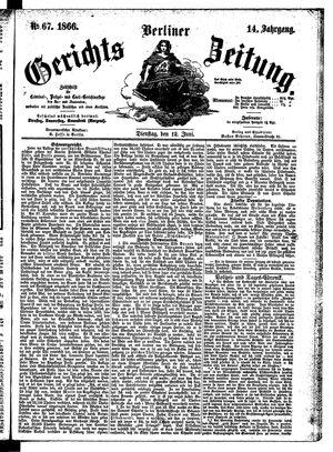 Berliner Gerichts-Zeitung vom 12.06.1866