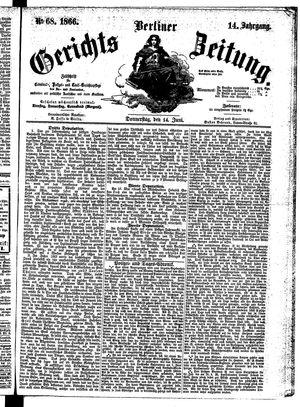 Berliner Gerichts-Zeitung vom 14.06.1866