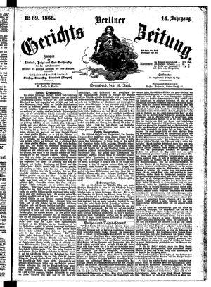 Berliner Gerichts-Zeitung vom 16.06.1866