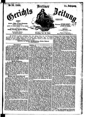 Berliner Gerichts-Zeitung vom 19.06.1866