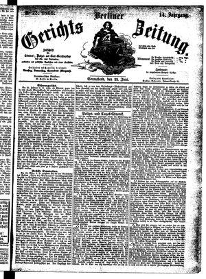 Berliner Gerichts-Zeitung vom 23.06.1866