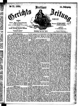 Berliner Gerichts-Zeitung vom 26.06.1866