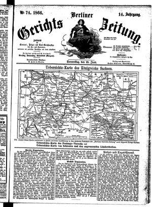 Berliner Gerichts-Zeitung on Jun 28, 1866