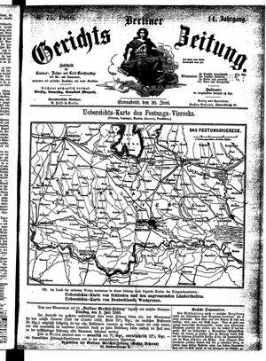 Berliner Gerichts-Zeitung vom 30.06.1866