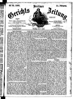 Berliner Gerichts-Zeitung vom 03.07.1866