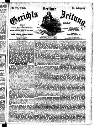 Berliner Gerichts-Zeitung vom 05.07.1866