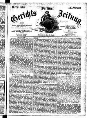 Berliner Gerichts-Zeitung vom 07.07.1866