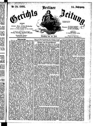 Berliner Gerichts-Zeitung on Jul 10, 1866