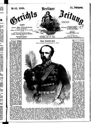 Berliner Gerichts-Zeitung vom 17.07.1866