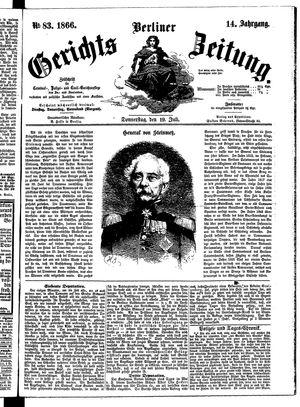 Berliner Gerichts-Zeitung vom 19.07.1866