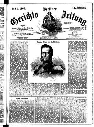 Berliner Gerichts-Zeitung vom 21.07.1866