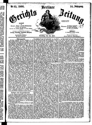 Berliner Gerichts-Zeitung vom 24.07.1866