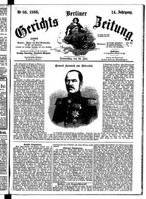 Berliner Gerichts-Zeitung vom 26.07.1866
