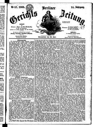 Berliner Gerichts-Zeitung vom 28.07.1866