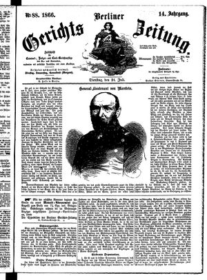 Berliner Gerichts-Zeitung vom 31.07.1866