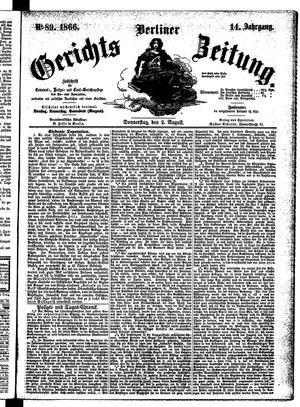 Berliner Gerichts-Zeitung vom 02.08.1866