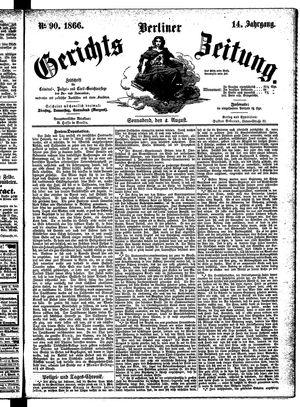 Berliner Gerichts-Zeitung vom 04.08.1866