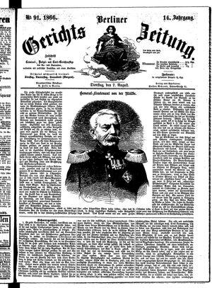 Berliner Gerichts-Zeitung vom 07.08.1866
