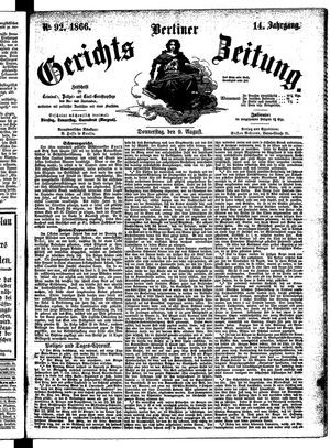 Berliner Gerichts-Zeitung vom 09.08.1866