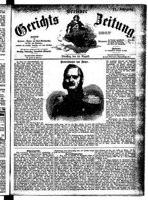Berliner Gerichts-Zeitung vom 14.08.1866