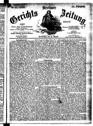 Berliner Gerichts-Zeitung vom 16.08.1866