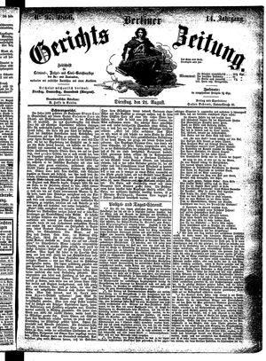 Berliner Gerichts-Zeitung on Aug 21, 1866