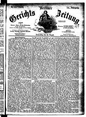 Berliner Gerichts-Zeitung vom 23.08.1866