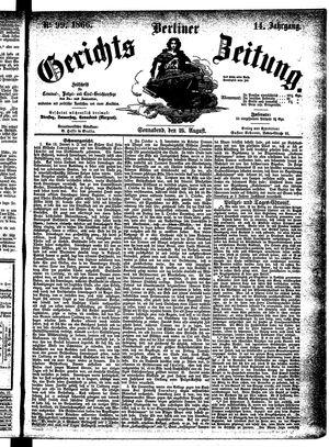 Berliner Gerichts-Zeitung vom 25.08.1866