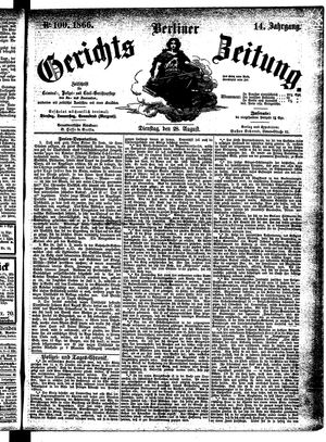 Berliner Gerichts-Zeitung vom 28.08.1866