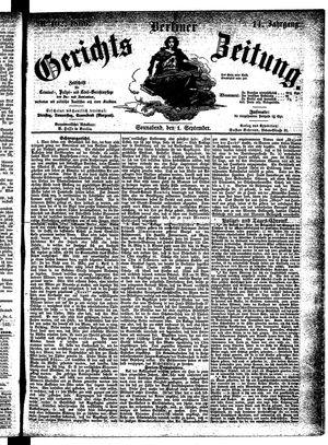 Berliner Gerichts-Zeitung vom 01.09.1866
